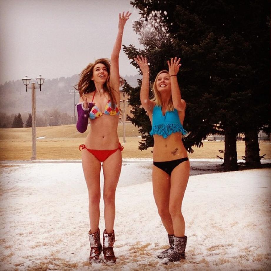 bikini in snow